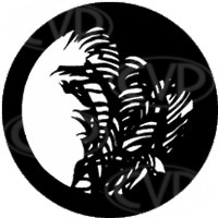 rosco 77127 (DHA 127) Palm Leaves gobo in M size (compatible with dedolight projection system)
