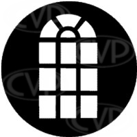 rosco 77139 (DHA 139) venetian arched window gobo in M size (compatible with dedolight projection system)