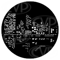 rosco 79023 (DHA 99023)  City Lights 2 gobo in M size (compatible with dedolight projection system)