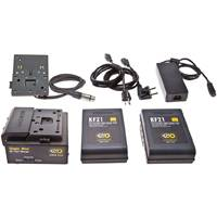 Kino-Flo SYS-BK12 KF21 NIMH Block Battery System - 140Whr 28.8V with 2x Battery, Charger and Mount (SYSBK12)