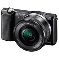 Sony a5000 20.1MP Mirrorless Camera with 16-50mm F3.5-5.6 OSS Lens (Black) (p/n ILCE5000LB.CEC)