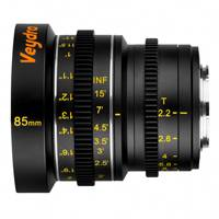Veydra Mini Prime 85mm T2.2 Lens  - Micro 4/3 Mount (Available in Metric and Imperial Scale)
