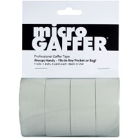 Visual Departures microGAFFER tape (Micro Gaffer Tape) (4 pack) 1-inch Wide x 8 Yards Long - 4 White
