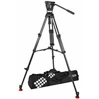 Sachtler Ace XL MS CF Fluid Head System includes Ace XL Fluid Head, Ace 75/2 CF Tripod, Mid-Level Spreader and Padded Bag (p/n 1018C)