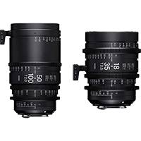 Sigma Canon EF Mount T2 High Speed Zoom Cine Lens Bundle (Includes 18-35mm, 50-100mm and Case) - Available in Feet and Metre Scale (WZQ966 / WMQ966)