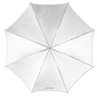 F J Westcott 2001 43inch optical white satin collapsible umbrella (860048)