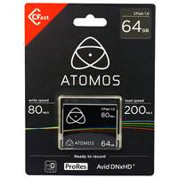 Atomos CFAST (1.0) 64GB Media Card for the Ninja Star Recorder (AO-ATOMCFT064)