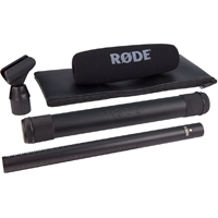 Rode NTG-3 / NTG-3B (NTG-3) Precision broadcast-grade shotgun microphone including ZP2 zip pouch, WSNTG3 wind shield, RM5 stand mount (Black or Silver)