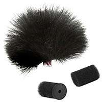 Rycote 1x Black Windjammer for Lavalier Microphones up to 4.5mm Wide and 15mm Long (p/n 065514)
