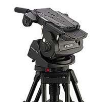 Vinten V4095-0001 (V40950001) Vector 75 Pan and Tilt Head - flat base head with 1 telescopic pan bar