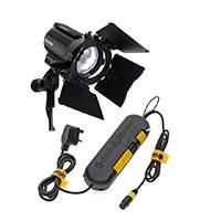 Dedolight SYS-DLH4 - DLH4 150W 24V Classic Dedolight lighting kit including DLH4 light head, DT24-1E power supply, DBD8 barndoor & DL150 lamp (SYSDLH4)