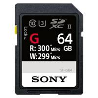 Sony SF-64G (SF64G) 64GB SF-G Series UHS-II Class 10 SDXC Memory Card with up to 300MB/s Transfer Speed