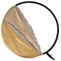 Lastolite LL LR4896 (LLLR4896) 5:1 Bottletop Collapsible Reflector 1.2m - Gold/White & Sunfire/Silver