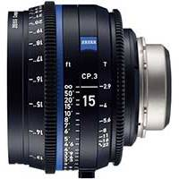 Zeiss CP.3 15mm T/2.9 Compact Prime Cine Lens - PL Mount | Available in Feet or Meter Scale (2189-452 / 2189-437)