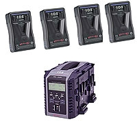 IDX EP-9/4Si (EP94Si) 4 x ENDURA-HL9 Batteries, 1 x VL-4Si Simultaneous Charger w/ Intelligent Display