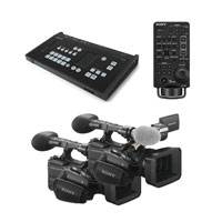 Sony MCX-500 (MCX500/2CAMKIT) Multi-Camera Live Producer Bundle with RM-30BP Controller and 2x HXR-NX5R Camcorders
