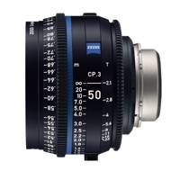 Zeiss CP.3 XD 50mm T/2.1 Compact Prime Cine Lens - PL Mount | Available in Feet or Metre Scale (2177-121 / 2165-529)