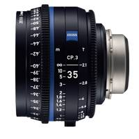 Zeiss CP.3 35mm T/2.1 Compact Prime Cine Lens - MFT Mount | Available in Feet or Metre Scale (2177-927 / 2177-922)
