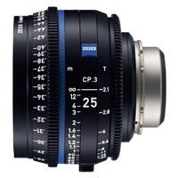 Zeiss CP.3 25mm T/2.1 Compact Prime Cine Lens - F Mount | Available in Feet or Metre Scale (2181-405 / 2181-400)