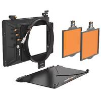 Bright Tangerine Misfit Kit 3 with 2 4inx5.65in Filter Trays, 2-Stage 4inx5.65in Matte Box, 143mm Clamp On Attachment (Misfit) and Carbon Fiber Top Flag (p/n B1230.0016)