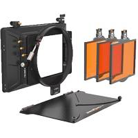 Bright Tangerine Misfit Kit 4 with 3 4inx5.65in Filter Trays, 3-Stage 4inx5.65in Matte Box, 143mm Clamp On Attachment (Misfit) and Carbon Fiber Top Flag (p/n B1230.0017)