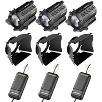 CVP Dedolight Lighting Kit 3B includes 3x Dedolight (100W - 12v) Dedolights, 3x Stands, 3x Dimmers and 1x Case