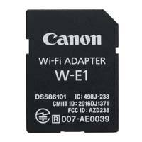 Canon W-E1 (WE1) SD-card sized Wi-Fi adapter for compatible dual card-slot EOS cameras (p/n 1716C001AA)