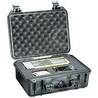 Peli Products 1450F Waterproof Flight Case with Foam (Pelican, Pelicase) (Internal Dimensions: W 38.0 cm x D 26.6 cm x H 15.3 cm)