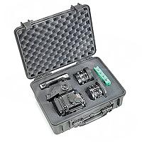 Peli Products 1520 Waterproof Flight Case with Foam - Black (Pelican, Pelicase) (Internal Dimensions: W 45.5 cm x D 32.5 cm x H 17.0 cm)