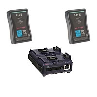 IDX ES-9/2 (ES92) 2 x ENDURA-HL9S Batteries, 1 x VL-2Plus Sequential Charger w/ AC Adaptor (60W)