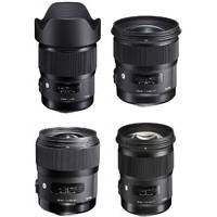 Sigma Canon EF Mount Art Series Lens Bundle (Includes 20mm, 24mm, 35mm and 50mm f/1.4 Art Lenses)