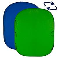 Lastolite LL LC5987 (LLLC5987) Collapsible, Blue / Green Reversible Chromakey Background 6x7ft (1.8 x 2.1m)
