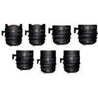 Sigma PL Mount FF High Speed Prime Cine 7 Lens Kit (Includes 14mm, 20mm, 24mm, 35mm, 50mm, 85mm and 135mm Prime Lenses) - Available in Feet or Metre Scale (WZX968 / WMX968)