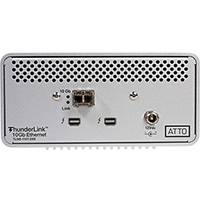 Atto ThunderLink 10Gb/s Thunderbolt (2-port) to 10GbE (1-Port) Desklink Device including Optical SFP+ (p/n AT-TLNS-1101-DE0)
