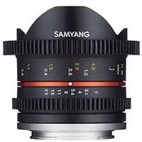 Samyang 8mm T3.1 VDSLR UMC Cine II Lens for Mirrorless cameras - Fuji X Mount (7696)