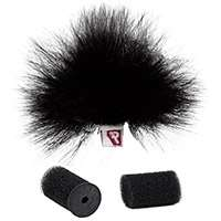 Rycote 1x Black Ristretto Windjammer for Lavalier Microphones (p/n 065555)