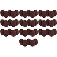 Rycote 10x packs of 5, Brown Foam pop/wind Shields for Lavalier Microphones up to 4.5mm in Diameter and 15mm in Length (p/n 105513)
