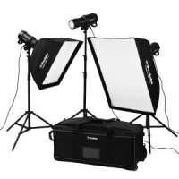 Profoto (901019) D1 Studio Kit 500/500/1000 Air includes 3 x D1 lights, 2 x softbox, 2 x speedrings, 1 x grid, 3 x stands, bag