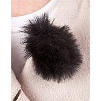 Rycote 065501 2x Pack of Black Fluffy Mini Windjammers (Windshield) for Lavalier Microphones