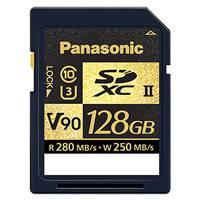 Panasonic 128GB SDXC UHS-II V90 Card - up to 280MB/s Read Speed and 250MB/s Write Speed (RP-SDZA128AK)