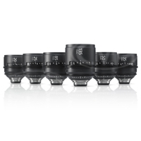 Sony SCL-PK6/F - Set of 6 PL mount Cine lenses for the PMW-F5 / F55 / F3 - 20, 25, 35, 50, 85 + 135mm lenses