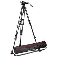 Manfrotto MVKN12TWING (MVK-N12TWING) Nitrotech N12 Fluid Head and 545GB Pro Heavy-Duty Aluminium Video Tripod with Ground Spreader