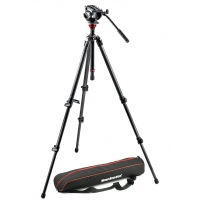 Manfrotto MVH500AH,755CX3 (MVH500AH755CX3) Lightweight Fluid Video Head with MDeVe Carbon Fiber Tripod
