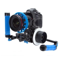Redrock Micro Captain Stubling DSLR Camera Rig with microFollowFocus includes DSLR Baseplate, Hand Grips (x2), Rod Clamp and 9-inch Carbon Fiber Rods (x2) (p/n 18-066-1105)