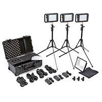 Litepanels Lykos Bi-Colour Flight Kit Including Bi-Colour LED Panels, Ball Head Shoe Mounts, Manfrotto Nano Stands, Diffusion Gels, Soft Box and Pelican 1510 with Custom Foam Insert (p/n 935-3100)