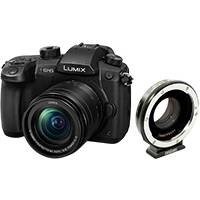 Panasonic Lumix DC-GH5 20.3MP Digital Single Mirrorless Compact System Camera with 12-60mm f3.5-5.6 Lens and Metabones EF to MFT Speed Booster Ultra 0.71x (DC-GH5MEB-K / MB_SPEF-M43-BT4)
