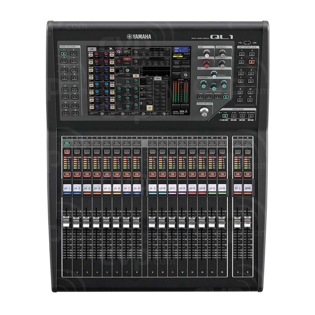 buy yamaha ql1 ql1 digital mixing console with 32 mono and 8 stereo 16 mix buses 8 matrix. Black Bedroom Furniture Sets. Home Design Ideas