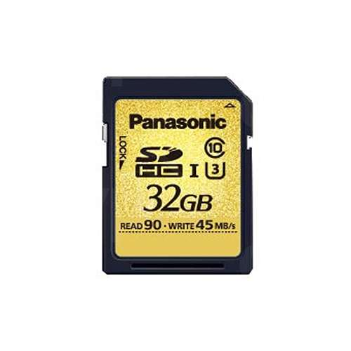 Panasonic 32GB SDHC Gold Series SDHC Card - up to 90MB/s Read Speed, up to 45MB/s Write Speed (RP-SDUC32GAK)
