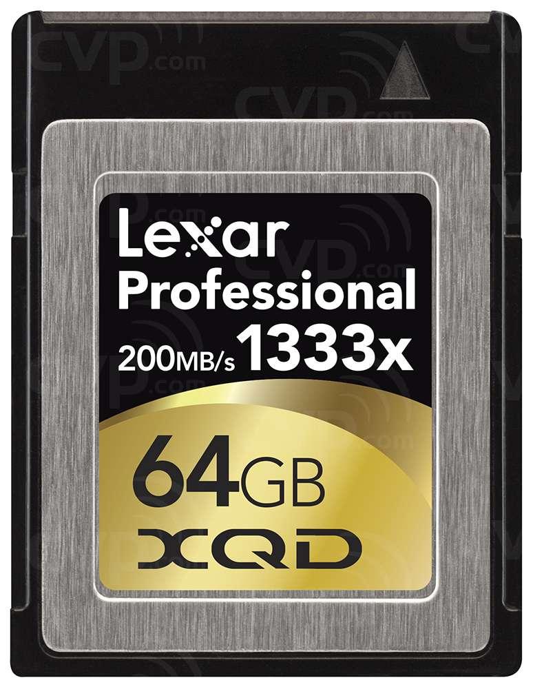 buy  used lexar professional xqd 64gb 1333x 200mbs xqd