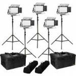Ikan RB5-5PT-KIT (RB55PTKIT) Rayden Half x 1 Bi-Colour 5-Point LED Light Kit
